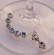 Sunglasses Personalised Wine Glass Charm